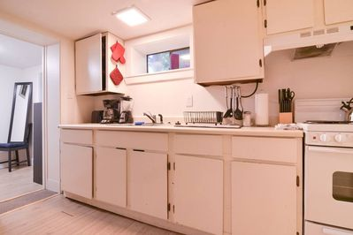 The kitchen is simple, but has proven adequate for our guests' meal prep needs