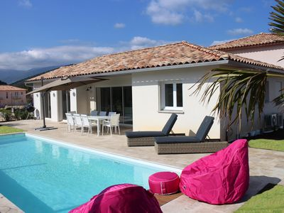 Photo for Luxury villa in Saint Florent with pool and private garden