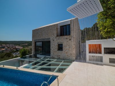 Photo for Modern Villa Sutivan - Island of Brač - Croatia - indoor and outdoor pool-sauna