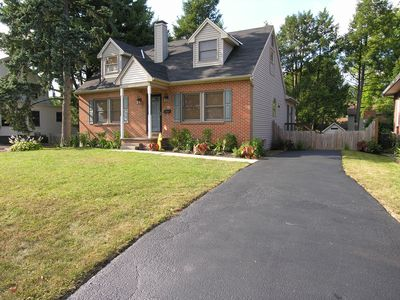 Newly renovated home with all hardwood flooring and large fenced in yard