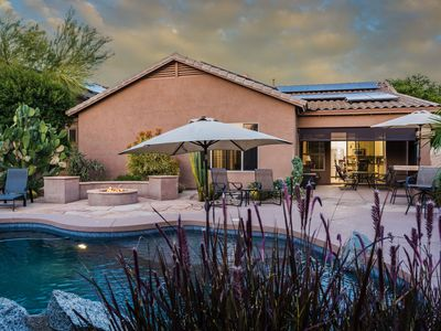 Photo for Spacious McDowell Mountain Ranch Villa w/Heated Pool, BBQ, Fire Pit - Sleeps 10!