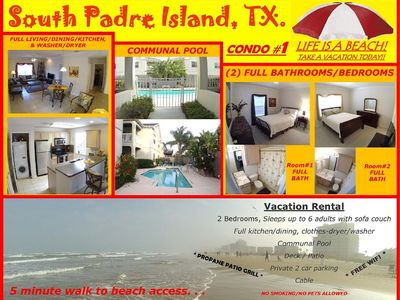 Amazing South Padre Island Condo, Close To All + 2 Bed./2 Bath And Pool!!!!