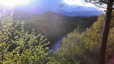 Photo for Secluded and Private Cabin with Amazing Views.  Hot tub and WiFi.