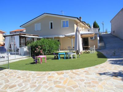 Photo for Villa with salt water and heated pool and jacuzzi near the sea