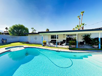 Photo for Pool & Spa w/ Mountain Views! Mid-Century 2BR Cathedral Canyon Cove