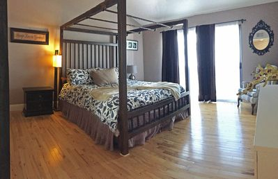 Master Bedroom, on the second story.