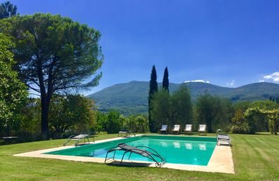 Photo for TOP Old Tuscan farmhouse in stone with olive gardens pool air conditioner wifi
