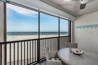 Gorgeous views of the beach and the Gulf of Mexico from your private lanai.