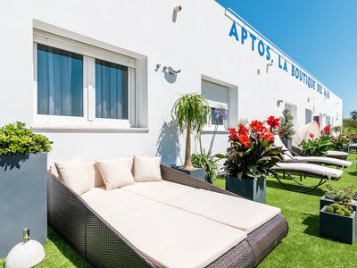 Photo for Modern, with roof terrace and very close to the beach - Apartamento La Caracola