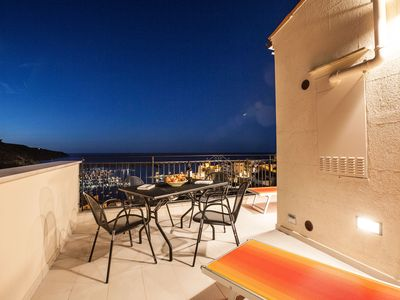 Photo for Clock terrace. Apartment with sea view terrace overlooking the marina