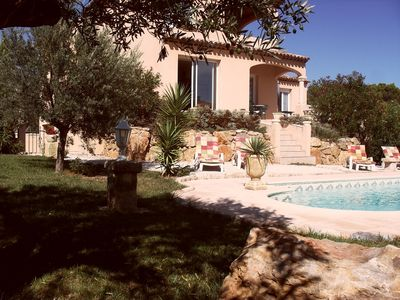 Photo for Luxurious Villa on Golf Course with Private Pool, Garden, Free WIFI Béziers,