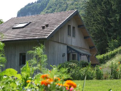 Photo for Very beautiful 3* chalet on the riverside, quiet in a green setting