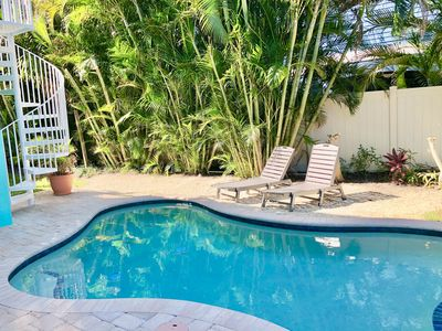Photo for Luxury 4BR, 3 1/2 BA House with Heated Pool, 4 houses from the beach