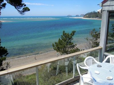 Photo for Beautiful Beach Front Cabin with Panoramic Views of Pacific Ocean and Netarts Ba