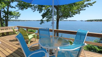 Photo for Driftwood Cottage - Renovated Oceanfront with Stunning Views in East Boothbay!
