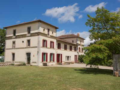 Photo for Hilltop Chateau with private heated pool in 10 Acres prices from 18 to 26 guests