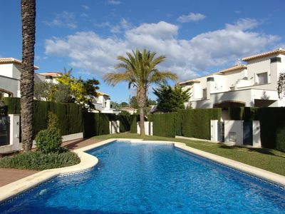 Photo for Luxury 2 bed terraced house 600 meters from a beautiful sandy beach.