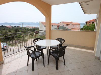 Photo for Two bedroom apartment with terrace and sea view Sveti Petar, Biograd (A-6169-a)