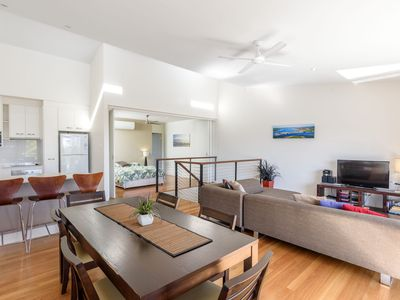 Photo for Unit 4 Rainbow Surf - Modern, double storey townhouse with large shared pool, close to beach and shop