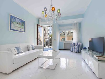 Photo for Modern, clean, bright in the city center with spacious living room terrace and balcony.