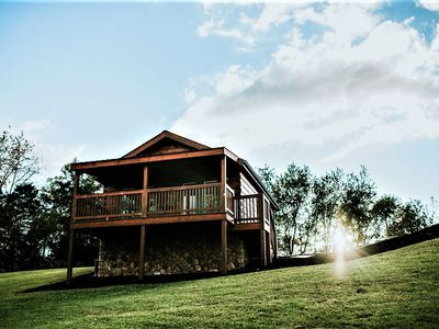 Photo for Hawksbill Retreat Cabin 8 Hot Tub Mountain View Beautiful 45 acres near Luray VA