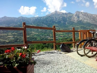 Photo for Superb apartment with stunning views of the Massif des Ecrins and Dévoluy