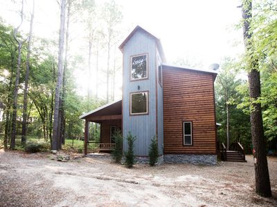 Photo for Brand New! Fireside Creek Cabin! 3BR;3Bth; Sleeps 10;Hot Tub; Fire Ring; Bunk Rm
