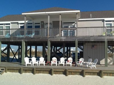 Photo for Beachfront home, 4 Bedrooms, FREE GOLF