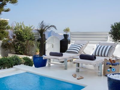 Photo for Star Villa Santorini 2br upto 6guests Private Pool and HotTub