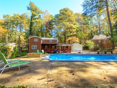 Photo for Large Family Space *Private Pool*HotTub*BBQ*Foosball*-Close To Airport&Downtown