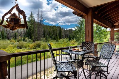 Gorgeous forest views from the private deck