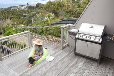 BBQ area Oneroa holiday house