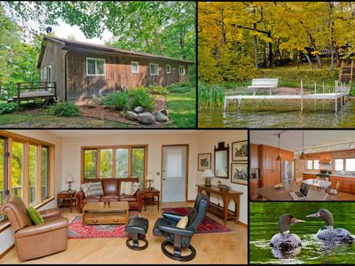 Lovely lakehouse on 40 acre peninsula, sand beach, lake view & all the amenities