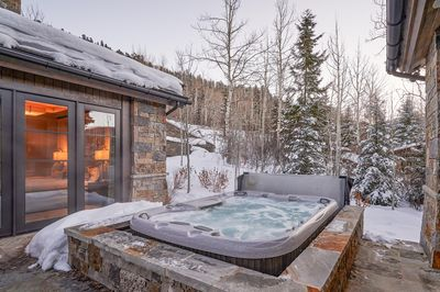 Hot Tub - Have a relaxing soak in the 10-person hot tub.