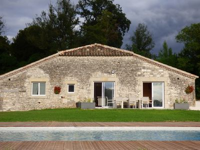 Photo for GITE **** 8 PEOPLE WITH SWIMMING POOL AND VIEW ON VALLEYS