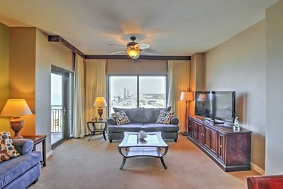 Sit back and relax on the plush living room couches!