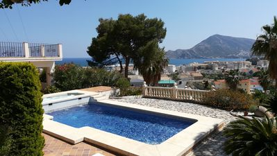 Photo for House with fantastic views, 5 minutes walk from Altea town, quiet and