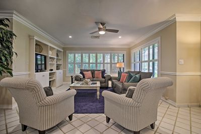 The luxurious living room is the perfect place to relax after a long day.
