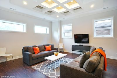 Living Space with queen sofa sleeper