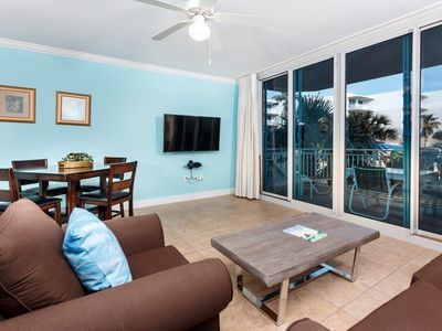 Photo for Welcoming condo at Waterscape! Free beach chairs! 490 feet of pristine, private beach!