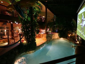 HAWAII Indoors! Swim-up Tiki-Bar 20' Palms,5 waterfalls,2 Theaters,Pool, Spa,Gym