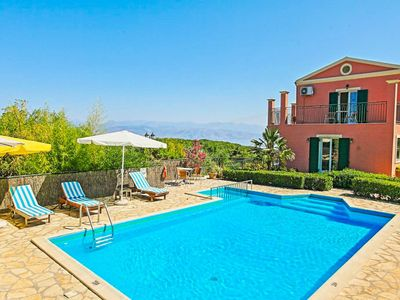 Photo for Villa Lenio: Large Private Pool, Walk to Beach, Sea Views, A/C, WiFi