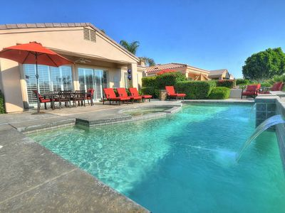 Photo for Breathtaking Golf Course Views! PGA West Palmer Course Home, Waterfall Pool/Spa & Casita, Fireplace