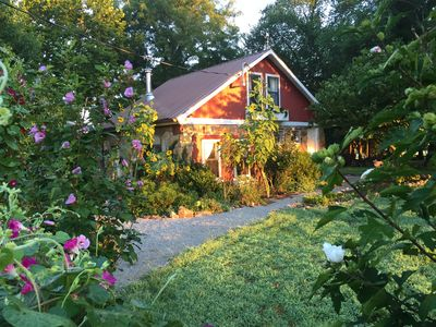 Morning sun on our quaint, country cottage!