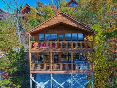 Photo for Morning View is a two story, one bedroom log cabin with a spectacular view!