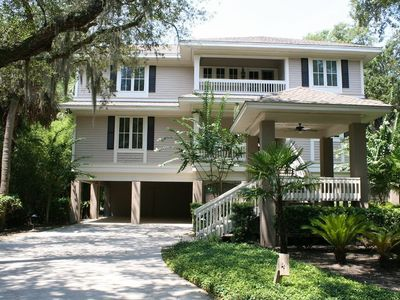 Photo for Beautiful 5BR home with pool just 150 yards from the beach!