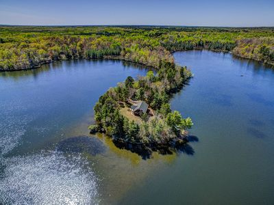 Photo for Secluded Home On Private Peninsula of Bearskin Lake w/ Dock Space, WiFi & More!