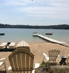 Photo for Lake Cottage w/Amazing Sandy Beach Free WiFi Slps 11 + add. cottage avail slps 4