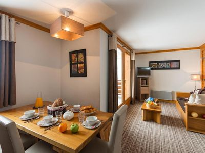 Photo for Surface area : about 41-49 m². Living room with bed-settee. Bedroom with double bed