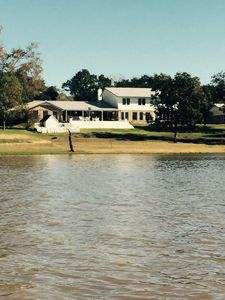 View of the house from the lake.